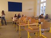 První školní den ve Zlivi.