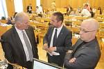 Českobudějovičtí zastupitelé v pondělí jednali o odvolání primátora Jiřího Svobody a jeho tří náměstků.