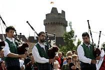 Mezinárodní dudácký festival začne ve čtvrtek ve Strakonicích, potrvá do neděle. Na poslední ročníky jezdívá kolem 30 000 lidí. Snímek je z roku 2008.