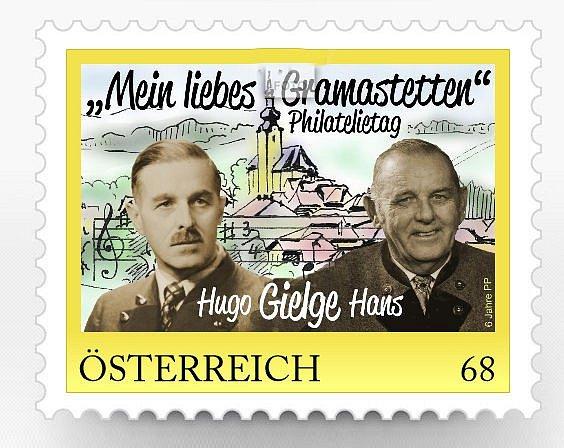 Desátá poštovní známka městečka.