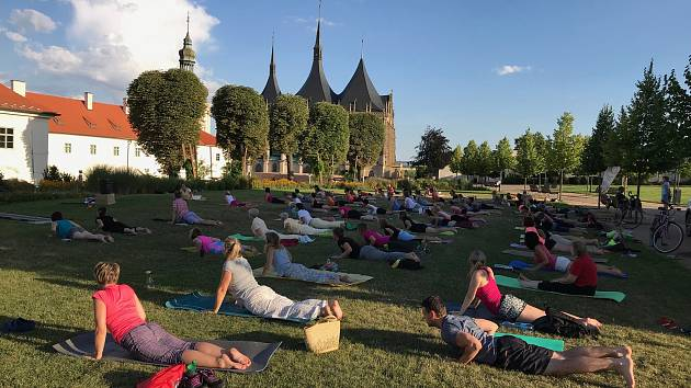 Mezinárodní den jógy oslaví cvičením venku . Foto: Archiv Jóga v denním životě.