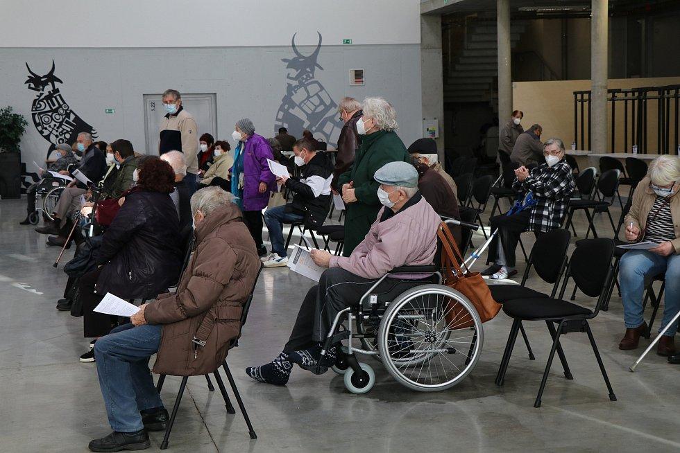 Očkovací centrum Očko na českobudějovickém Výstavišti.