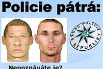 Kriminalisté pátrají po dvou pachatelích loupežného přepadení v Českých Budějovicích.