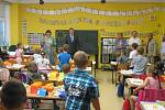 První školní den v 1. B ZŠ Malá Strana Týn nad Vltavou.