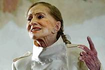 Operní pěvkyně a herečka Soňa Červená (*1925) zpívala 20. srpna 2015 v třeboňském divadle. Ilustrační snímek.