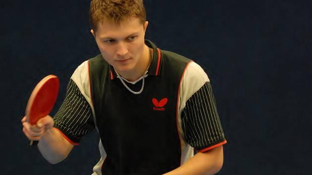 Michal Houška (Pedagog Č. Budějovice) v letošní třetí lize ještě neprohrál. Jeho tým na něj bude v sobotním derby hodně spoléhat.