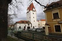 Rabenštejnská věž v Českých Budějovicích.