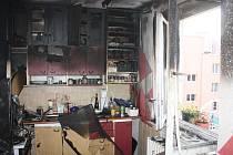 V úterý na českobudějovickém sídlišti Máj hořelo. Odpoledne vzplála kuchyně v osmém patře panelového domu v ulici J. Bendy.