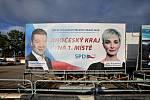Předvolební billboard SPD. Známka odborníka na marketing: 2-.