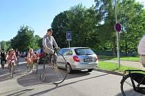 Na slavnostní jízdu po cyklostezkách v Českých Budějovicích vyrazili někteří kolaři ve čtvrtek 15. června odpoledne.