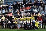 Radost hráčů i fanoušků Dynama po výhře nad Sokolovem byla obrovská, liga je blízko!
