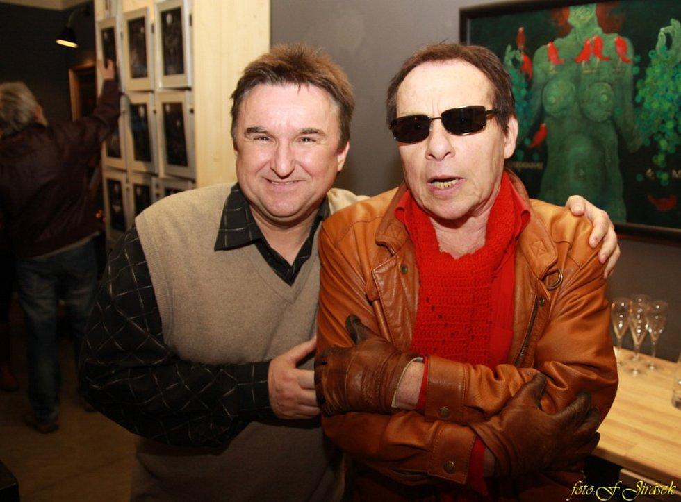 Jaroslav Sypal s fotografem Janem Saudkem.