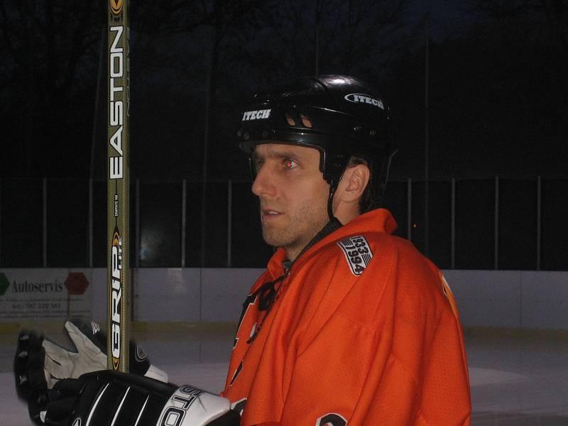 Karel Poborský na ledě