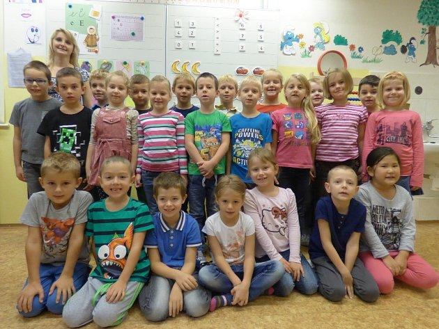 Žáčci z 1. D českobudějovické ZŠ a MŠ Nerudova