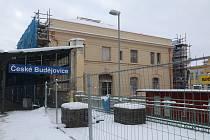 Rekonstrukce nádraží v Českých Budějovicích.