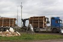 Dřevěné klády se vysypaly z vleku soupravy včera ve Strážkovicích na Českobudějovicku. K žádnému zranění nedošlo. Náklad zasáhl pouze svodidla.
