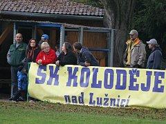 Koloděje nad Lužnicí porazily ve třetí třídě fotbalisty Pištína 3:0.