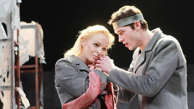 Oidipa ztvárnil v inscenaci Jihočeského divadla Jan Hušek, jeho manželku Iokasté hraje Věra Hlaváčková.