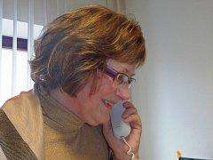 """""""Jak bude?"""" Na telefonický dotaz odpovídá Miloslava Starostová z českobudějovické pobočky Českého hydrometeorologického ústavu."""