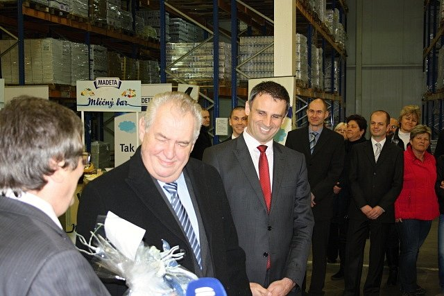 Návštěva Miloše Zemana v Madetě