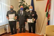 Předání medaile ZZS JčK v úterý 24. listopadu v Českých Budějovicích.
