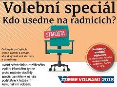Volební Písecký týden koupíte jako přílohu středečního Deníku nebo od čtvrtka samostatně s vloženým TV magazínem.