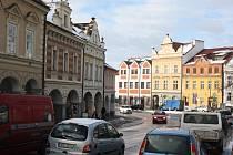 Doprava na náměstí v Trhových Svinech.