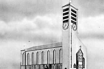 Studie katolického kostela sv. Vojtěcha před rokem 1938.