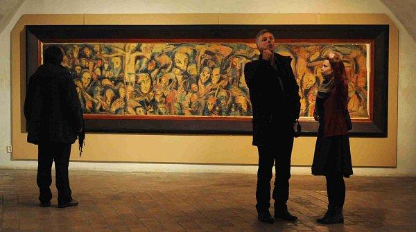Egon Schiele Art Centrum vČeském Krumlově otevřelo pět výstav pod názvem Mysterium Šumava. Hlavní expozice představuje dílo Josefa Váchala (1884 - 1969). Na snímku obraz Rozptýlené myšlenky.