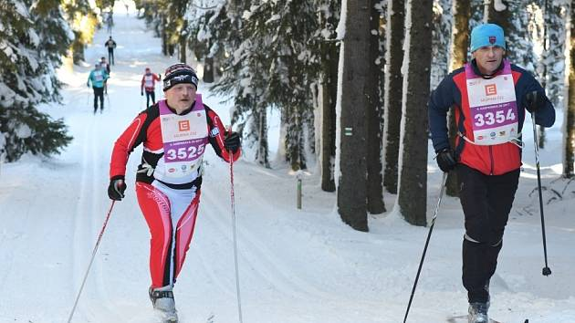 ZÁVOD. Aktivního víkendu na Šumavě si užili také Martin Janda z Křemže (vpravo) a Stanislav Hadrava ze Stach.