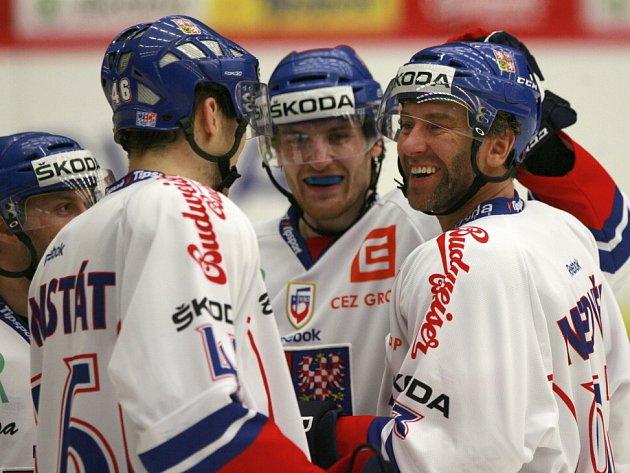 Euro hockey challenge Česká republika - Německo, přátelské přípravné utkání v Budvar Aréně