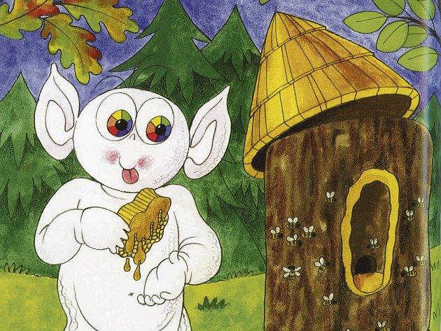 Strašidlo Doudlo potěší děti v knížce Miroslava Krejči, kterou vydal Portál.