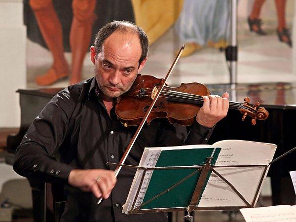 Talichovo kvarteto odehrálo na českokrumlovském Festivalu komorní hudby strhující koncert. Na snímku Jan Talich.