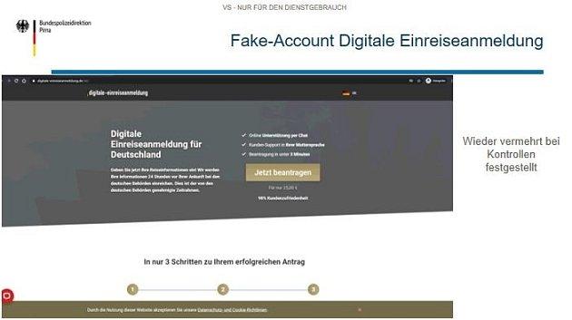 Obrázek falešného webu.