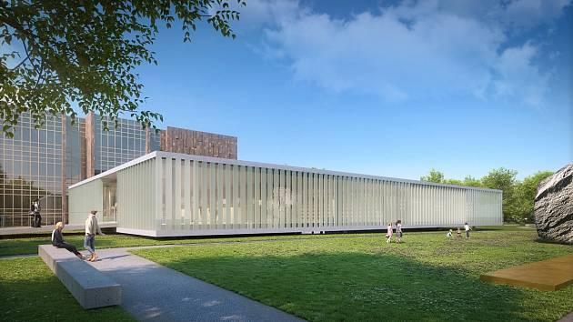 Takhle bude vypadat přístavba knihovny na Lidické. Otevře se v roce 2021.