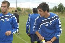 Jaroslav Machovec (vpravo) na tréninku spolu s Rastislavem Bakalou.