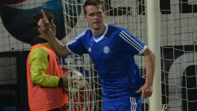 Tomáš Malec dal Dynamu dva góly Olomouce.