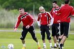 Fotbalisté A-Týmu SK Dynamo České Budějovice zahájili letní přípravu v tréninkovém areálu Složiště.