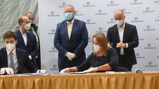 Podpis krajské koaliční smlouvy