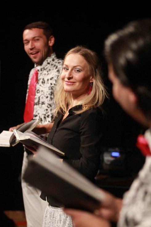 Projekt scénického čtení Listování oslavil 30. listopadu v Českých Budějovicích deset let. Na snímku