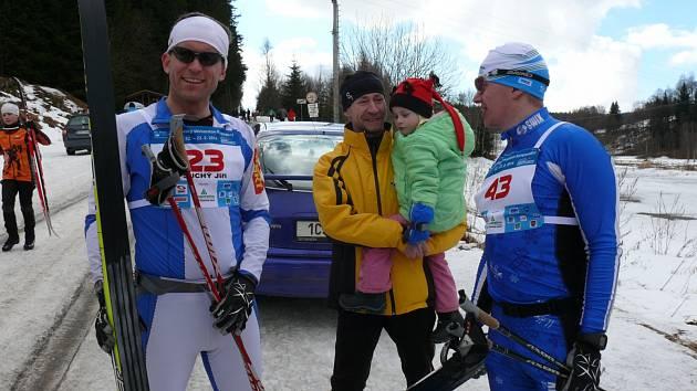 Antonín Mráz a Jiří Suchý v cíli maratonu