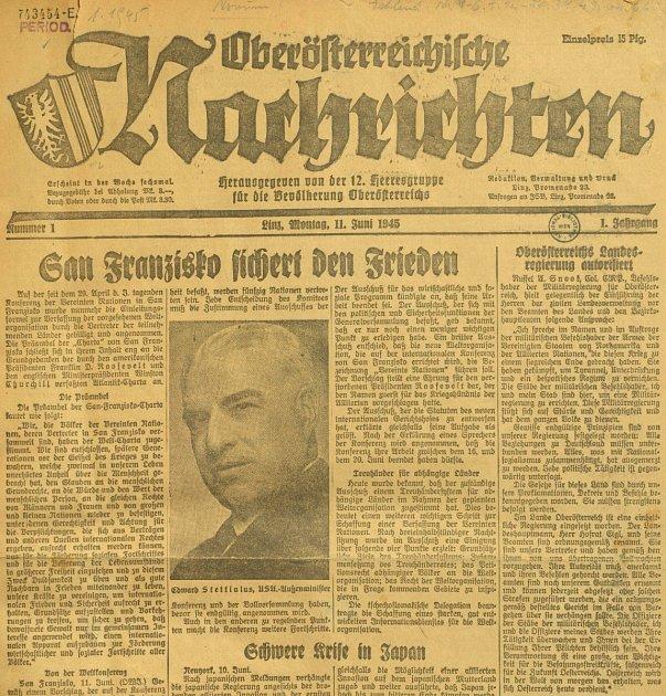 První číslo OÖN zroku 1945.