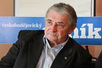 Oldřich Pelčák v redakci Deníku.
