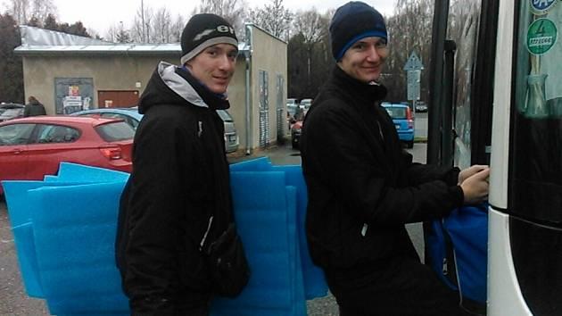 Petr Šulista a Martin Pleva před cestou do Antverp