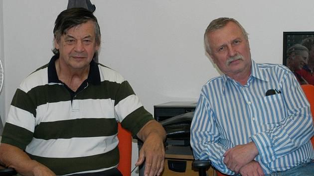 Třeboňští trenéři Miroslav Foral a Zbyněk Lejsek.