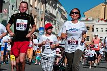Na start sobotního dm Rodinného běhu v Českých Budějovicích se postavilo na 1500 sportovců.