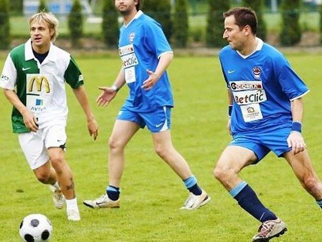 Snímek z minulé Charitativní fotbalové exhibice.