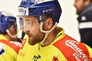 V zápase s HC RT Torax Poruba nechyběl ani Matouš Maxmilián Venkrbec (na snímku).
