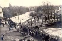 Malše a tehdejší Wilsonovo náměstí v roce 1939.