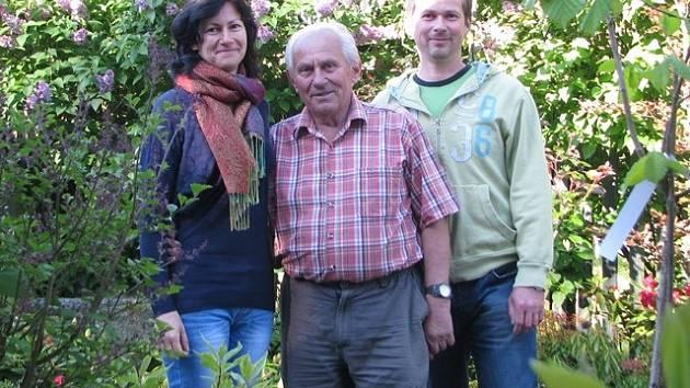 Jiří Beneš z Bechyně s dcerou Hanou a synem Petrem.
